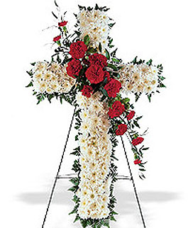 roseville-florist-funeral-cross