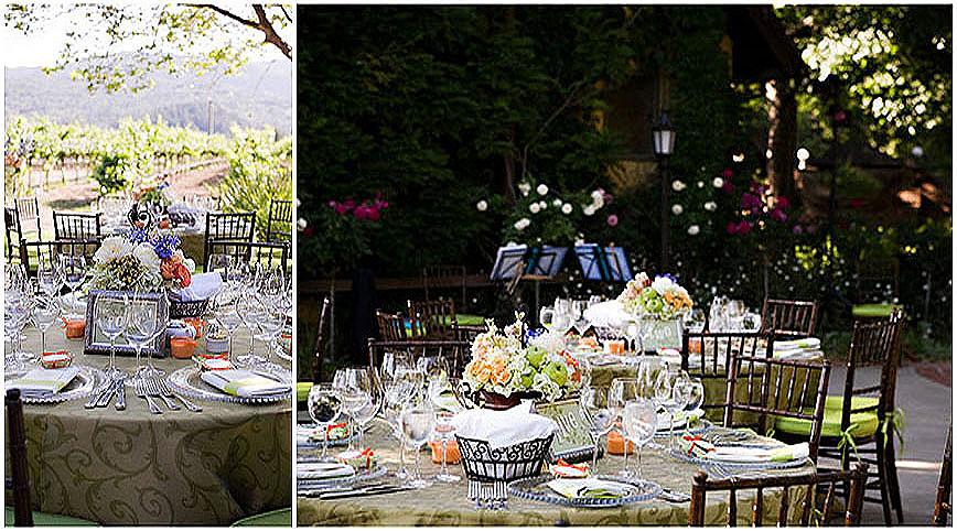 Harvest inn wedding flowers napa valley ambience