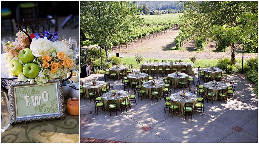 harvest inn wedding flowers - napa valley
