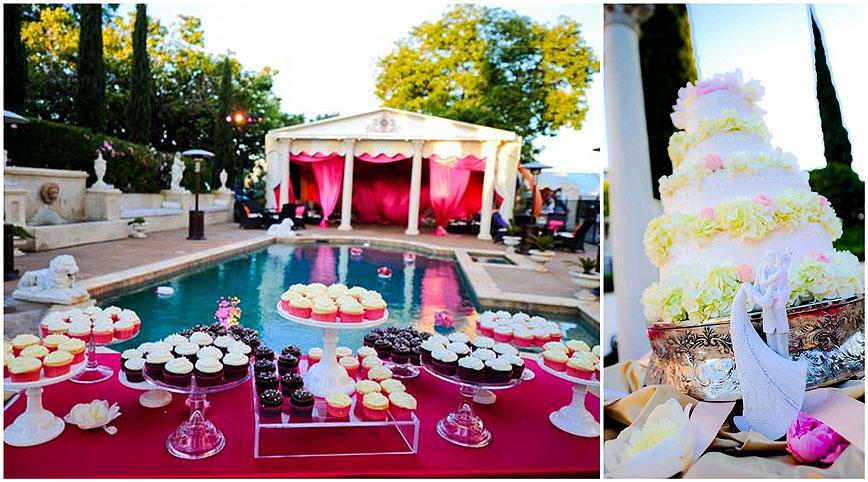 Sacramento Wedding Flowers Grand Island Mansion Pool