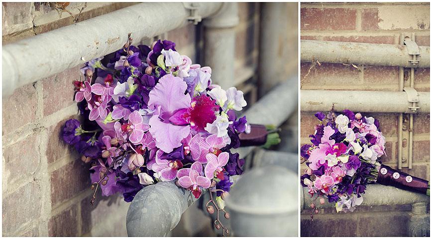 Sacramento Wedding Flowers Purple Orchid Bouquet