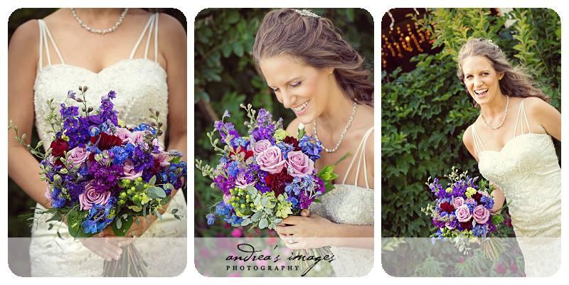 sacramento wedding flowers purple